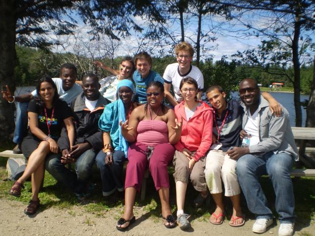 Simon Kodjo and other International delegate at the World Youth Congress 2008