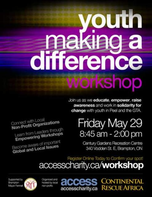 Youth Making A Difference Event Poster