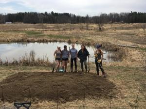 Nina's Planting for Turtle Habitat