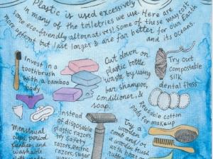Plastic pollution poster - toiletries