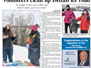Ice road clean up