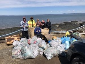 Shoreline Cleanup at Baxters Harbour