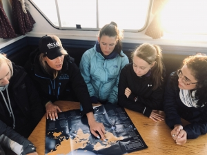 Young girls assist in shark tagging project off the coast of Halifax