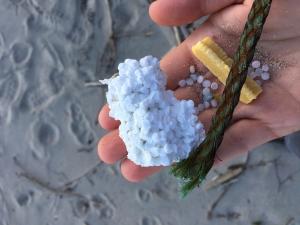 Micro-beads on Lake Superior shoreline