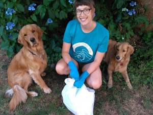 Community Clean-Up with Golden Retrievers